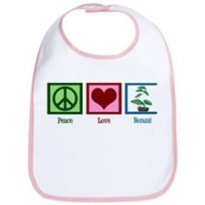 Peace Love Bonsai Bib