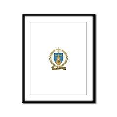 LOUVIERE Family Crest Framed Panel Print