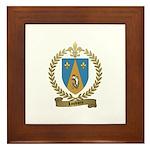 LOUVIERE Family Crest Framed Tile