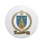 LOUVIERE Family Crest Ornament (Round)