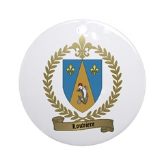 LOUVIERE Family Crest Ornament (Round)