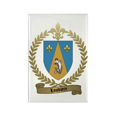 LOUVIERE Family Crest Rectangle Magnet (10 pack)