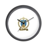 LOUVIERE Family Crest Wall Clock