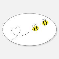 Bee in Love Sticker (Oval)