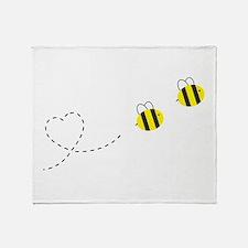 Bee in Love Throw Blanket