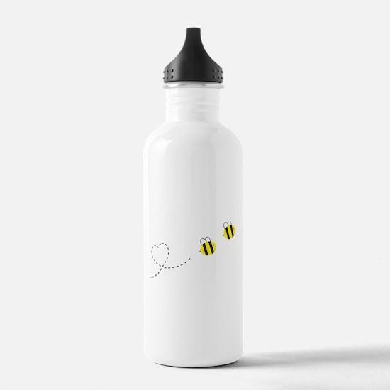 Bee in Love Water Bottle