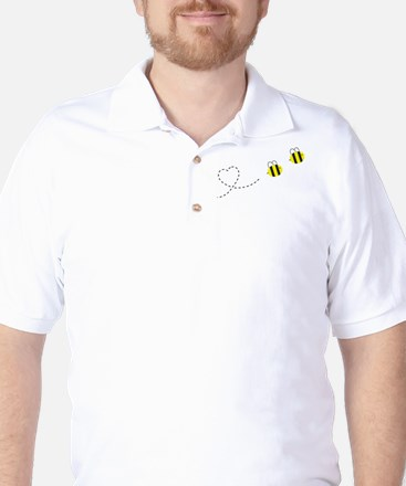 Bee in Love Golf Shirt