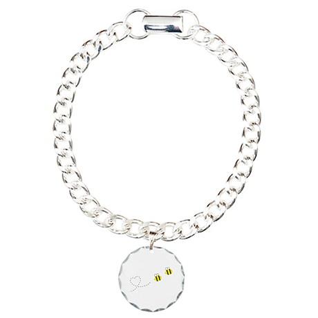 Bee in Love Charm Bracelet, One Charm