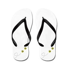 Bee in Love Flip Flops
