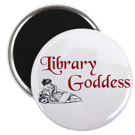 "Library Goddess Vintage 2.25"" Magnet (100 pack)"