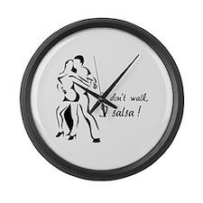I don't walk, I salsa ! Large Wall Clock