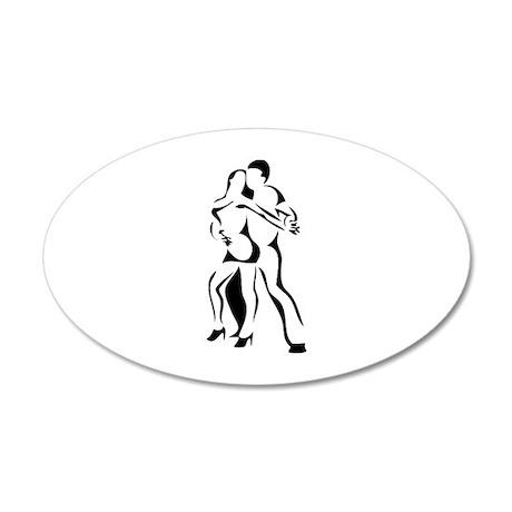 Dance 22x14 Oval Wall Peel