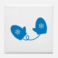 Mittens - Blue Tile Coaster