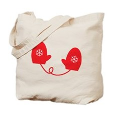 Mittens - Red Tote Bag