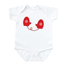 Mittens - Red Infant Bodysuit