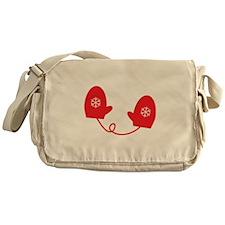Mittens - Red Messenger Bag