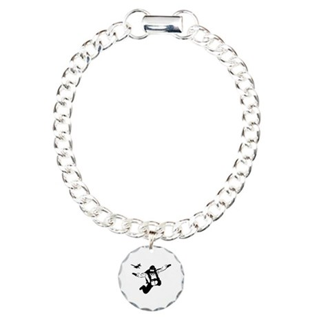 Skydiving Charm Bracelet, One Charm