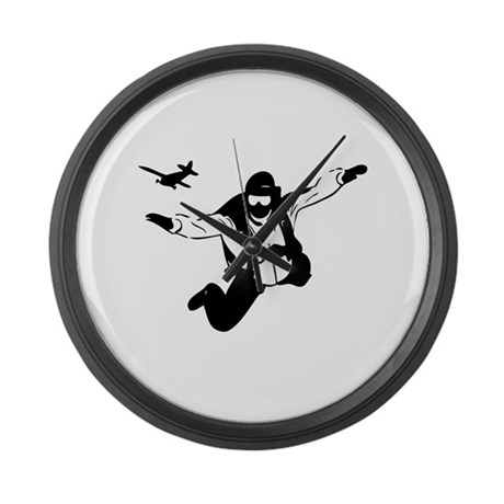 Skydiving Large Wall Clock