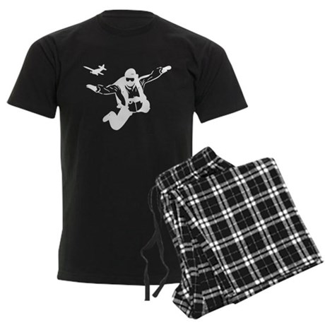 Skydiving Men's Dark Pajamas