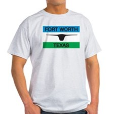 Fort Worth Flag Ash Grey T-Shirt