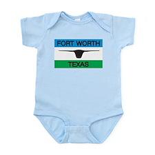 Fort Worth Flag Infant Creeper