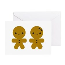 Gingerbread Boy and Girl Greeting Cards (Pk of 10)