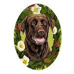 Chocolate Labrador Retriever Ornament (Oval)