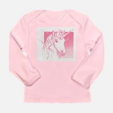 1 Pink Unicorn Long Sleeve Infant T-Shirt