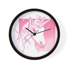 1 Pink Unicorn Wall Clock