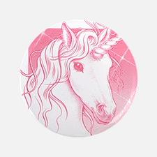 """1 Pink Unicorn 3.5"""" Button"""