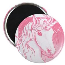 "1 Pink Unicorn 2.25"" Magnet (10 pack)"