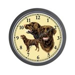 Chocolate Labrador Retriever Wall Clock