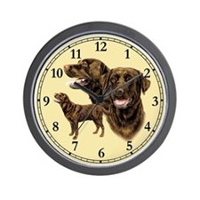 Chocolate Labrador Retriever Wall Clock
