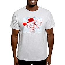 Steve-O Cheerio Comic Ash Grey T-Shirt