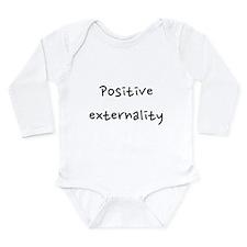 Positive externality Long Sleeve Infant Bodysuit