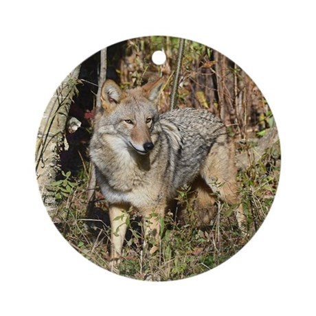 Eastern Coyote Ornament (Round)