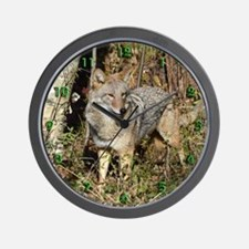 Eastern Coyote Wall Clock
