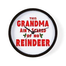 Grandma Got run over Wall Clock