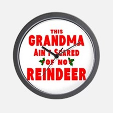 Grandma Got run over Wall Clock