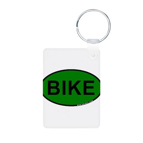 Bike Aluminum Photo Keychain