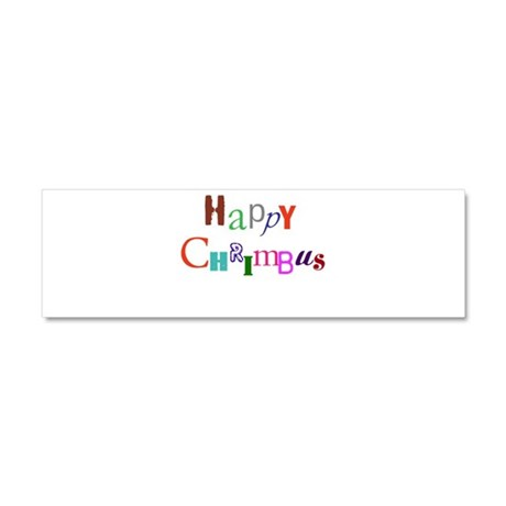 Happy Chrimbus Car Magnet 10 x 3
