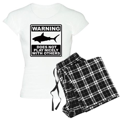Shark Does Not Play Nicely Women's Light Pajamas