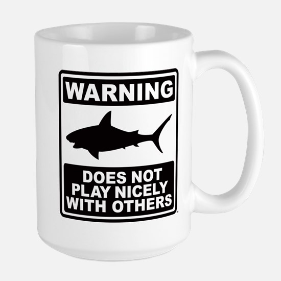 Shark Does Not Play Nicely Large Mug