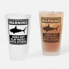 Shark Does Not Play Nicely Drinking Glass