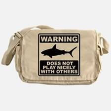 Shark Does Not Play Nicely Messenger Bag