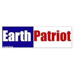 Earth Patriot Bumper Bumper Sticker