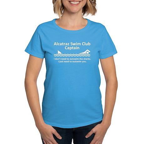 Alcatraz Swim Club Captain Women's Dark T-Shirt