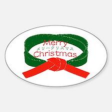 """Karate Christmas"" Sticker (Oval)"