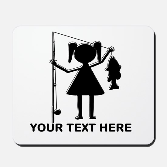 CUSTOMIZABLE REEL GIRL Mousepad