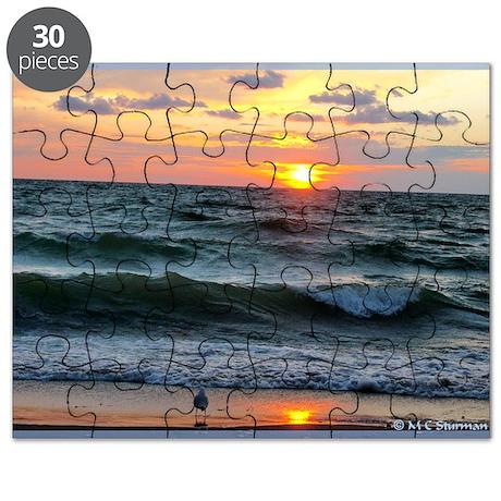 Sunset, beautiful, photo, Puzzle